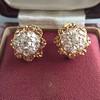 2.25ctw Old Mine Cut Victorian Cluster Earrings 19