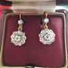 2.20ctw Victorian Old European Cut Diamond Ear Pendants 24