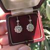 2.20ctw Victorian Old European Cut Diamond Ear Pendants 3
