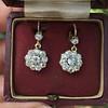 2.20ctw Victorian Old European Cut Diamond Ear Pendants 5
