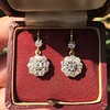 2.20ctw Victorian Old European Cut Diamond Ear Pendants 4