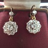 2.20ctw Victorian Old European Cut Diamond Ear Pendants 30