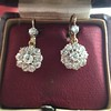 2.20ctw Victorian Old European Cut Diamond Ear Pendants 20