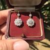 2.20ctw Victorian Old European Cut Diamond Ear Pendants 14