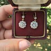 2.20ctw Victorian Old European Cut Diamond Ear Pendants 15