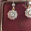 2.20ctw Victorian Old European Cut Diamond Ear Pendants 13