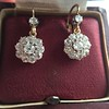 2.20ctw Victorian Old European Cut Diamond Ear Pendants 7