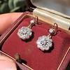 2.20ctw Victorian Old European Cut Diamond Ear Pendants 6