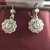 2.20ctw Victorian Old European Cut Diamond Ear Pendants 8