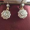 2.20ctw Victorian Old European Cut Diamond Ear Pendants 16