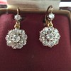 2.20ctw Victorian Old European Cut Diamond Ear Pendants 2