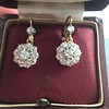2.20ctw Victorian Old European Cut Diamond Ear Pendants 22