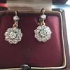 2.20ctw Victorian Old European Cut Diamond Ear Pendants 27