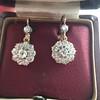2.20ctw Victorian Old European Cut Diamond Ear Pendants 18