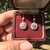 2.20ctw Victorian Old European Cut Diamond Ear Pendants 19