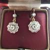 2.20ctw Victorian Old European Cut Diamond Ear Pendants 25
