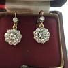 2.20ctw Victorian Old European Cut Diamond Ear Pendants 28