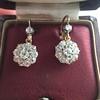 2.20ctw Victorian Old European Cut Diamond Ear Pendants 23