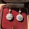 2.20ctw Victorian Old European Cut Diamond Ear Pendants 10