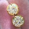 2.23ctw Old European Cut Diamond Stud Earrings 2