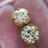 2.23ctw Old European Cut Diamond Stud Earrings 9