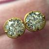 2.23ctw Old European Cut Diamond Stud Earrings 16