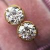 2.23ctw Old European Cut Diamond Stud Earrings 15