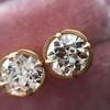 2.23ctw Old European Cut Diamond Stud Earrings 14