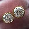 2.23ctw Old European Cut Diamond Stud Earrings 11