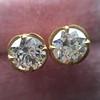 2.23ctw Old European Cut Diamond Stud Earrings 7