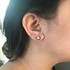 2.25ctw (est) Georgian Collet Stud Earrings 24