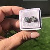 2.25ctw (est) Georgian Collet Stud Earrings 19