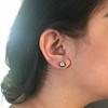 2.25ctw (est) Georgian Collet Stud Earrings 23
