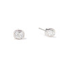 2.25tcw Antique Cushion Cut Bezel Earrings