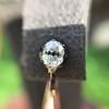"""2.50"""" Georgian Collet Diamond Hoop Earrings, Rose Gold"""