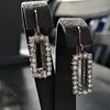 2.50ctw (est) Vintage Diamond Dangle Earrings 5