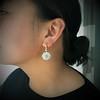 2.65ctw Vintage Old European Cut Diamond Cluster Earrings 4