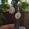 2.65ctw Vintage Old European Cut Diamond Cluster Earrings 11