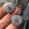 2.65ctw Vintage Old European Cut Diamond Cluster Earrings 3