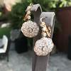 2.65ctw Vintage Old European Cut Diamond Cluster Earrings 13