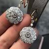 2.65ctw Vintage Old European Cut Diamond Cluster Earrings 17