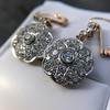 2.65ctw Vintage Old European Cut Diamond Cluster Earrings 2