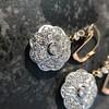 2.65ctw Vintage Old European Cut Diamond Cluster Earrings 20