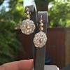 2.65ctw Vintage Old European Cut Diamond Cluster Earrings 12