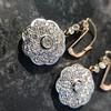 2.65ctw Vintage Old European Cut Diamond Cluster Earrings 19