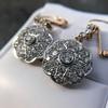 2.65ctw Vintage Old European Cut Diamond Cluster Earrings 27