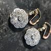 2.65ctw Vintage Old European Cut Diamond Cluster Earrings 18