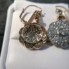 2.65ctw Vintage Old European Cut Diamond Cluster Earrings 21