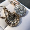 2.65ctw Vintage Old European Cut Diamond Cluster Earrings 6