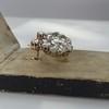 2.70ctw Antique Rose Cut Diamond Cluster Earrings 11